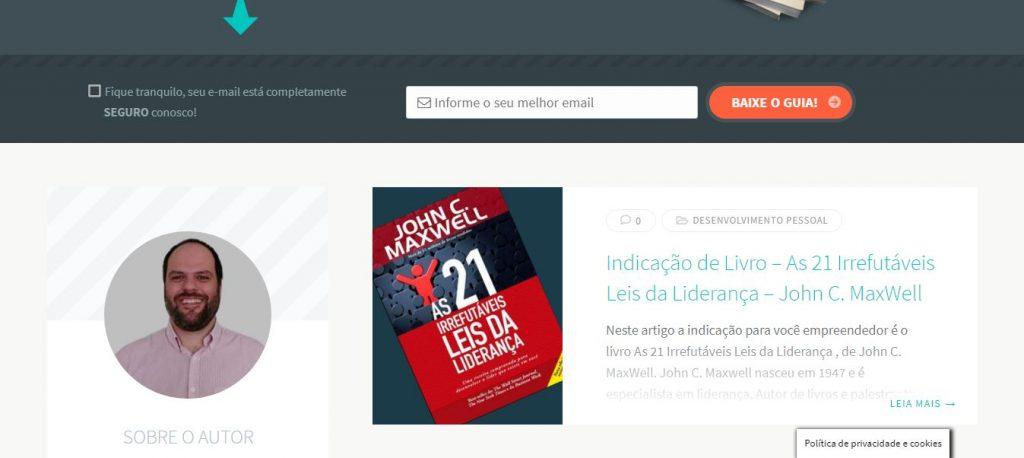 André Lobo - Porque criei esse blog de empreendedorismo digital - Blog 2
