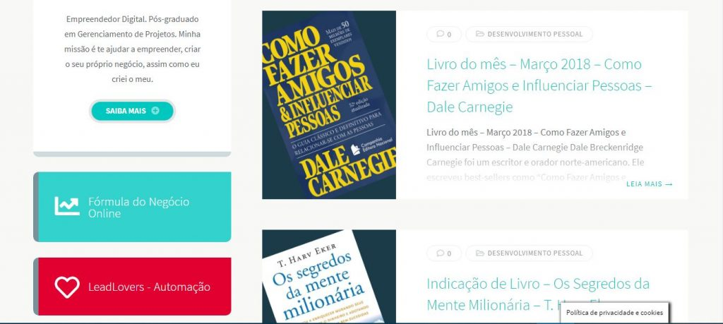 André Lobo - Porque criei esse blog de empreendedorismo digital - Blog 3