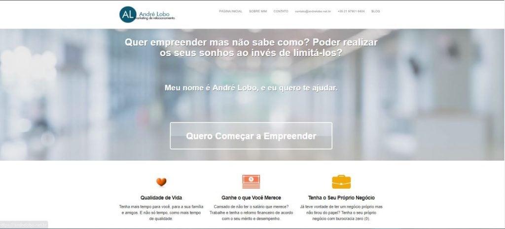 André Lobo - Porque criei esse blog de empreendedorismo digital - Site antigo 1