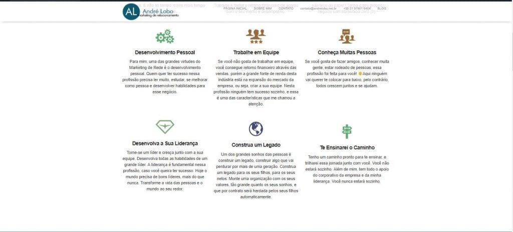 André Lobo - Porque criei esse blog de empreendedorismo digital - Site antigo 2