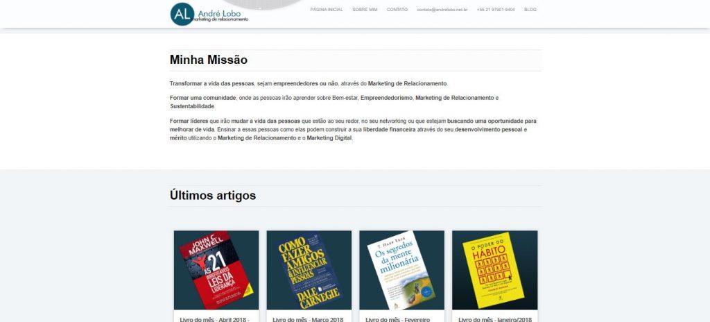 André Lobo - Porque criei esse blog de empreendedorismo digital - Site antigo-4