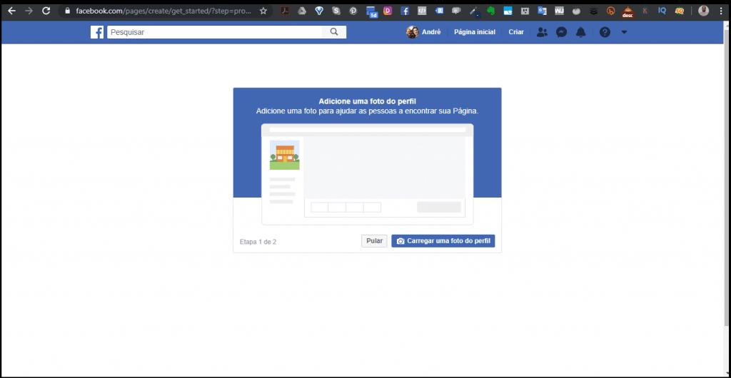 Facebook - Página - Foto perfil