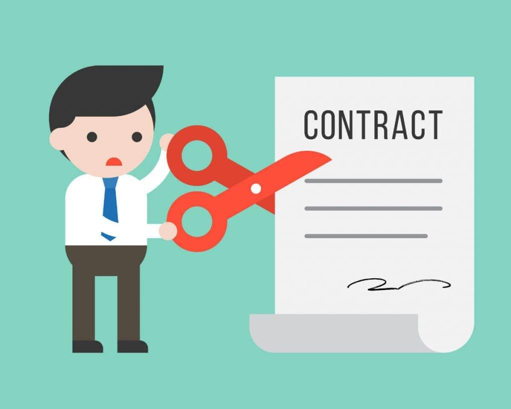 A minha vida de consultor - contrato sendo rasgado