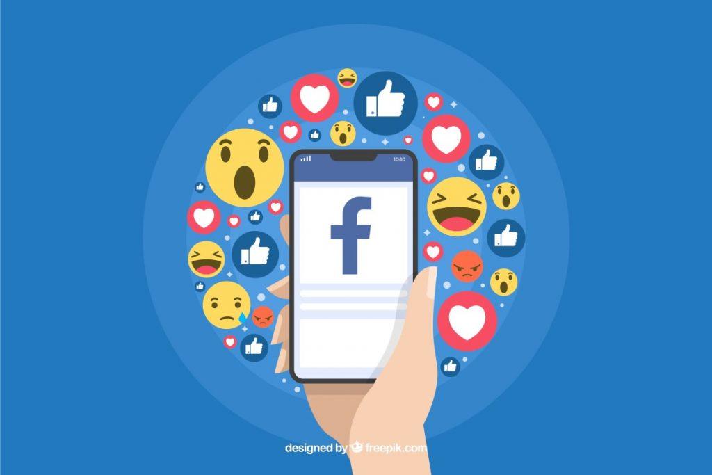 Facebook post - Reações