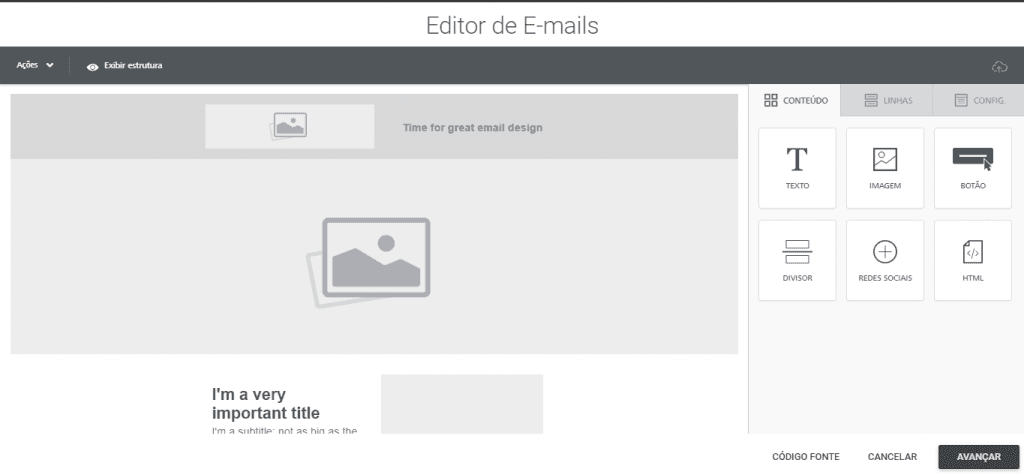 Leadlovers - Editor de email avançado